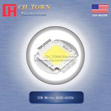 1pcs 20w Watt High Power White 6000 6500k Smd Led Chip Blub Beads Cob Lamp