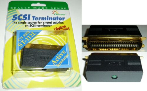 Gold Centronics 50pin//wire Male Active LED Terminator SCSI1//2 HD//Scanner//Backup