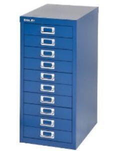 BISLEY-10-MULTI-DRAWER-FILING-CABINET-BRAND-NEW-BLUE