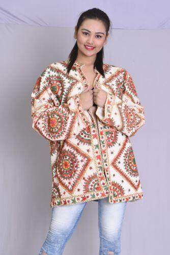Long Hvid Outwear Bomuld Print 6xl Pige S Indisk Jakke Banjara 100 Kvinder Cut q6SCntvw
