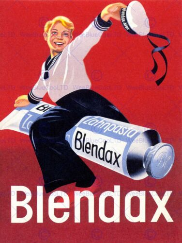 TOOTHPASTE GERMANY BLENDAX SAILOR VINTAGE ADVERTISING POSTER RETRO PRINT 1534PY