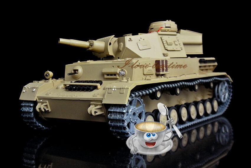 HengLong 1 16 Scale German Panzer IV F RC Tank Upgraded Metal Sound Smoke 3858-1