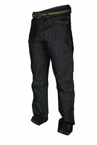 Mens Tapered Fit Jeans by Raphael Valencino Contrasting Stitching Faded Design
