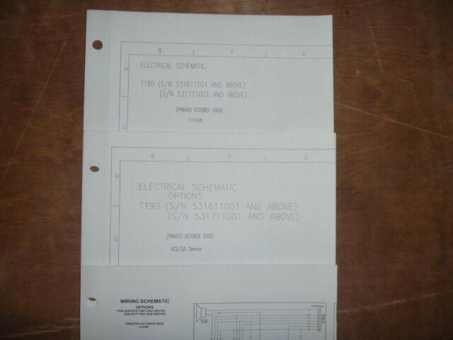 Bobcat T190 Skid Steer Electrical Wiring Diagram Schematic
