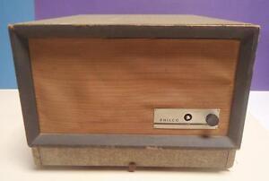 Vintage Original Midcentury PHILCO Suitcase 3 Speed Record Player w/Folding Legs