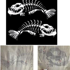 Skeleton Fish Decals for Boat Fishing Graphics Bones Sticker Truck Surfboard