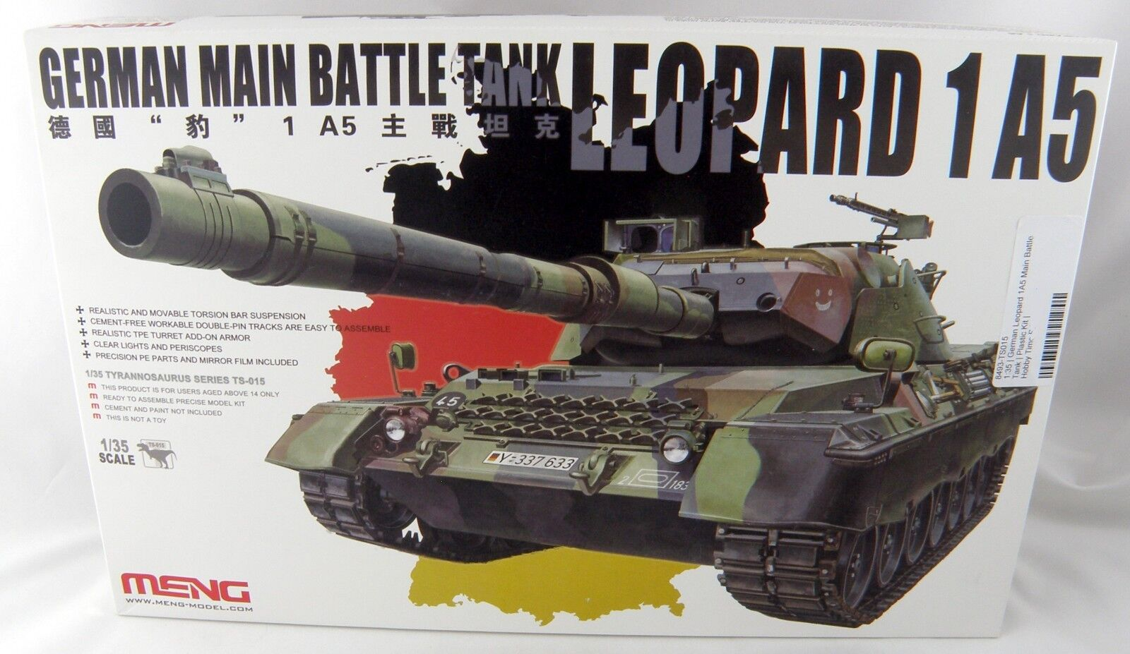 Meng TS015 German Leopard 1 A5 Main Battle Tank 1/35 Scale Plastic Model Kit