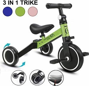 Tricycle-Kids-Bike-Child-Sport-Racing-Ride-3-Wheels-Chopper-1-3-Years-Green