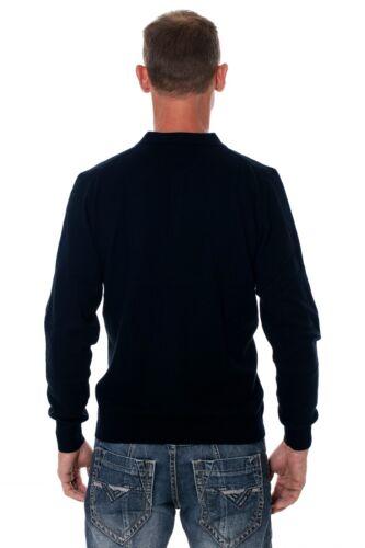 Suéter de para 100 polo marino hombres azul merino Ugholin de lana tipo HU1HqA