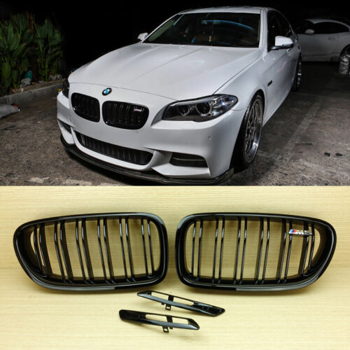 Side Fender Cover For 2011-2013 F10//F11 Fit BMW Shiny Black M5 Front Grille