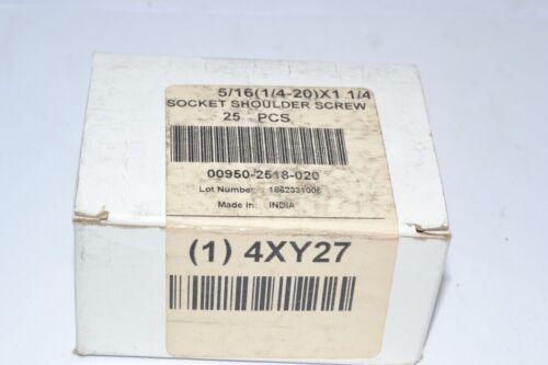 5//16/'/' Shoulder Dia., Lot of 25 NEW 4XY27 Shoulder Screw Standard Alloy Steel