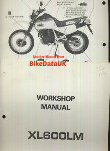 genuine honda xl600lm 1985 factory shop manual xl 600 lm pd04 rh ebay co uk Honda XL 600 History Honda XL 600 Bobbers