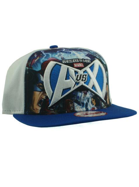 83e2f7af52e New Era Avengers Vs X-Men 9fifty Snapback Hat Adjustable AVX Marvel Comics  White