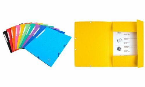 farbig sortiert #50xEXACOMPTA Eckspannermappe Karton DIN A4