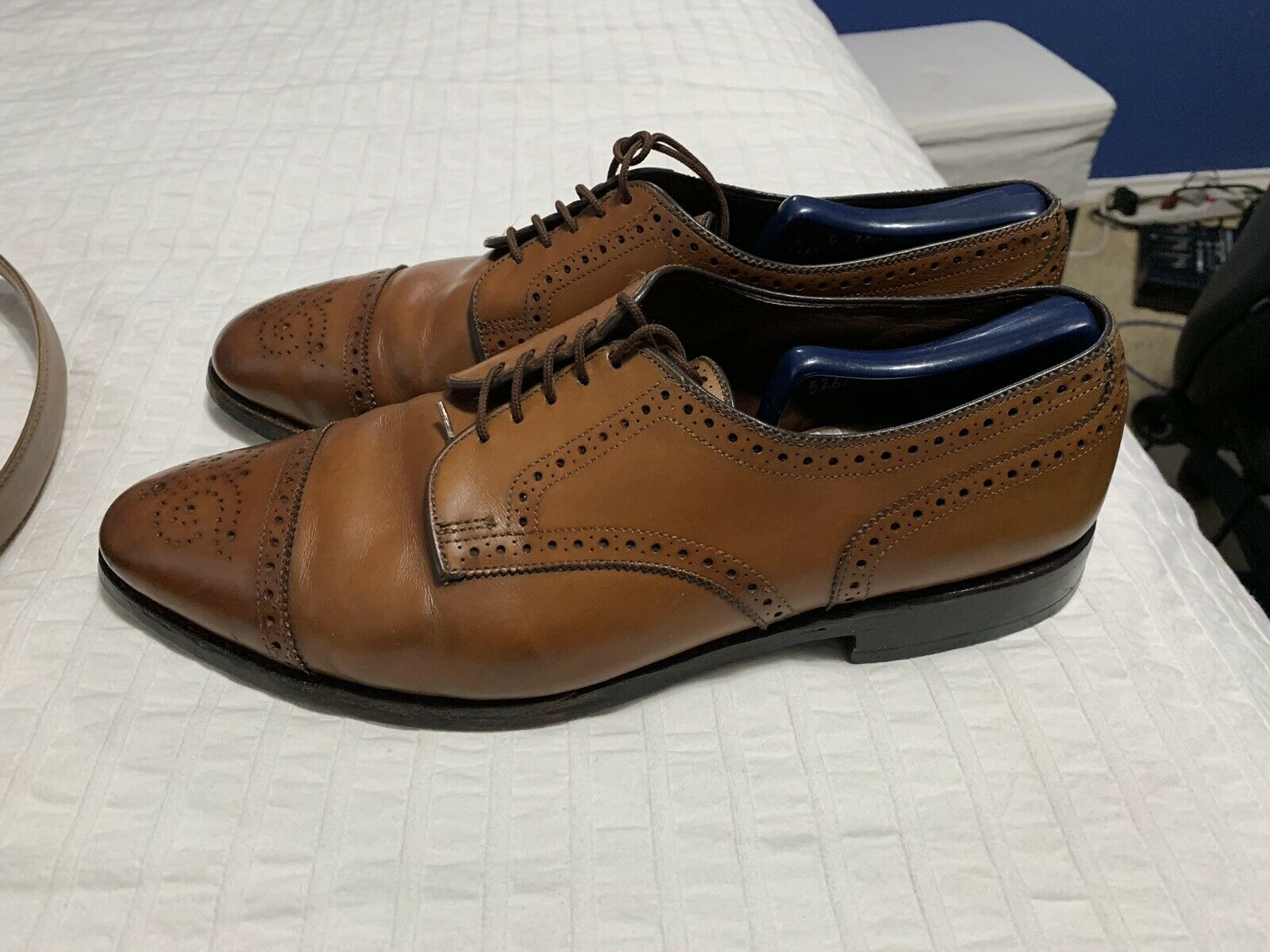 ALLEN EDMONDS Noyer SANFORD Bout D'Aile Derbies 12 D