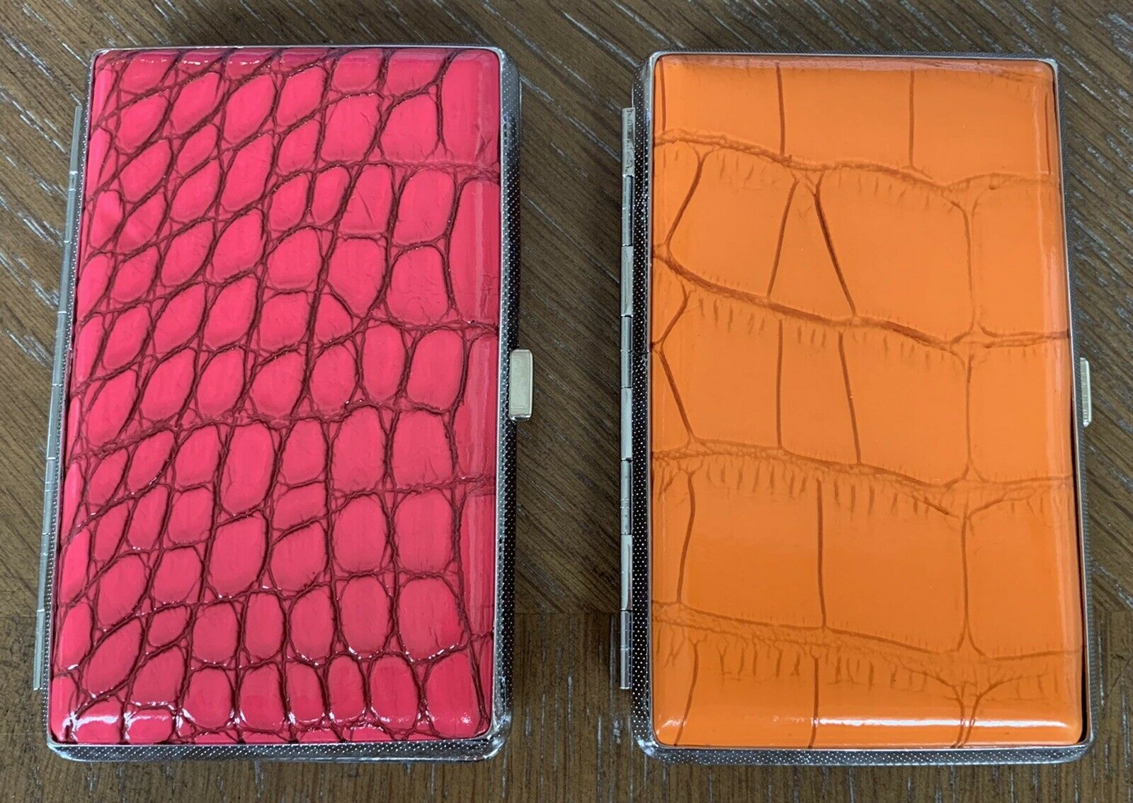 """Hard Clip Carrying Case Pink & Orange Design Lot of 2 """"NEW"""" Free Shipping"""