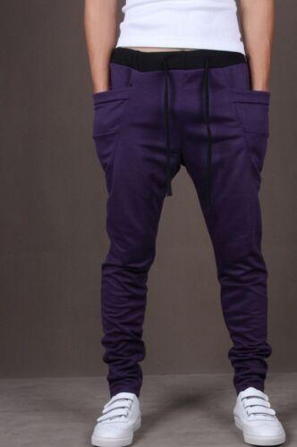 Men/'s Cotton Casual Trousers Pocket Long Sportswear Sports Jogging Haren Pants