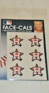 MLB-HOUSTON-ASTROS-6-TEMPORARY-FACE-TATTOOS-FACE-CALS-FAST-FREE-SHIPPING