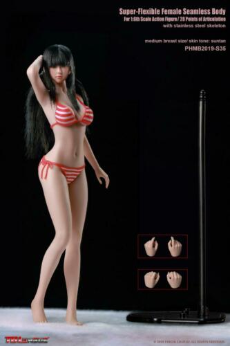 TBLeague 1//6 Medium Breast Female Girl Seamless Body Model Toys PHMB2019-S34//S35