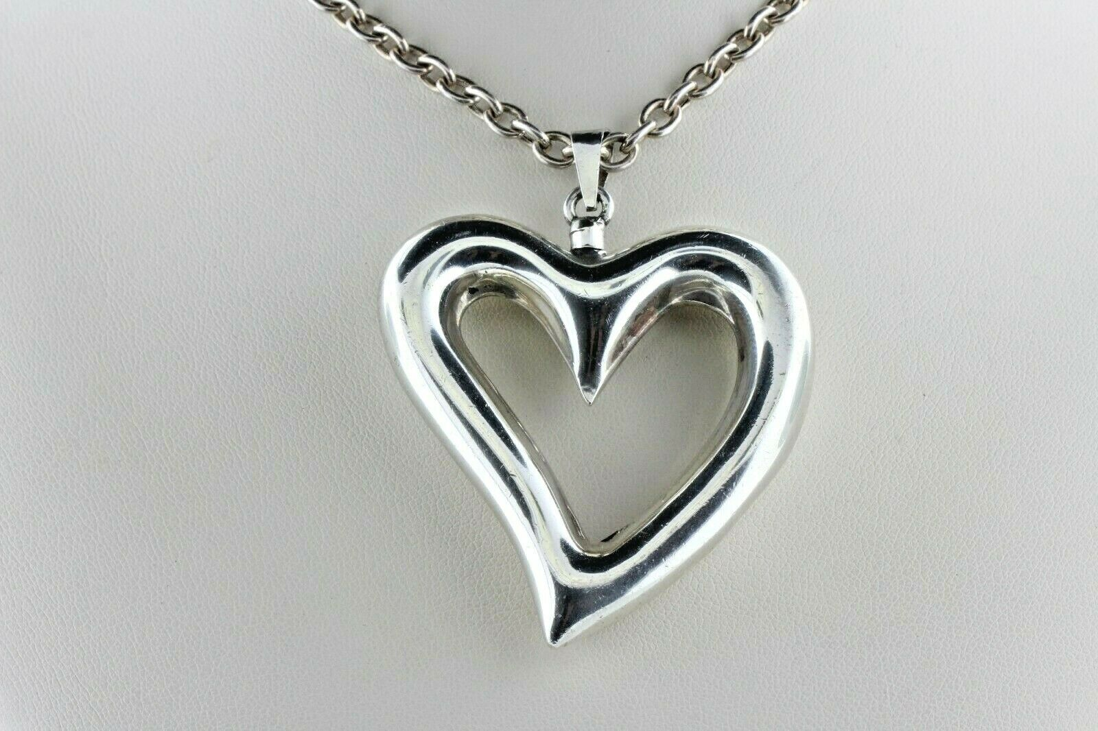 Vintage Sterling Silver Heart Screw Top Poison Pe… - image 2