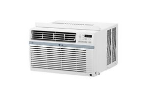 LG LW1017ERSM - 10,000 BTU 110V Window A/C: Remote & Window Accessories Included