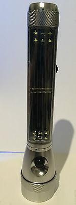 Alu 7 LED Solar Power Taschenlampe Leuchte solarbetrieben Handlampe Flashlight