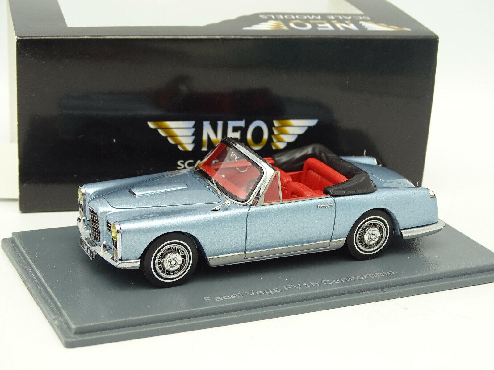 Neo  1/43 - Facel Vega FV 1B Convertible bleue