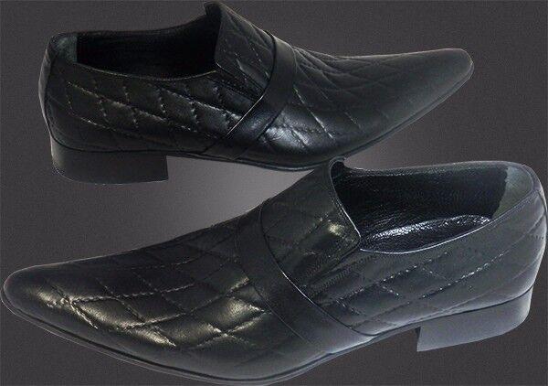 O.G Chelsy - Italienische Designer Slipper Slipper Slipper Karomuster schwarz handmade 39 671d54