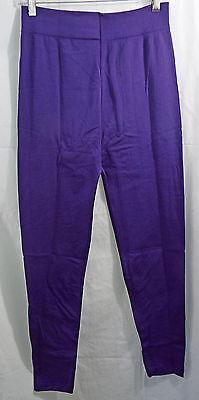 Womens Regular & Plus Size Knit Fleece Soft Leggings in Purple