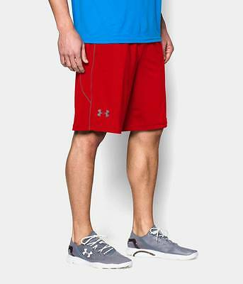 "Under Armour Mens UA Raid Shorts - 10"" Red Small, Medium or Large Workout Short"