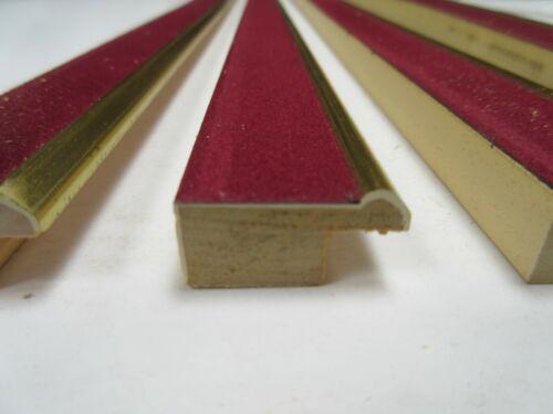 de 25mm Borgoña Terciopelo Filete Slip Marco Moldeo 4 x Longitudes de 1 M 4m