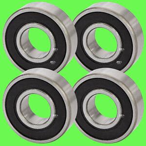 4-Pezzo-6000-2RS-Cuscinetto-a-Sfere-10-x-26-x-8-mm-Gola-Profonda-per-10-Albero