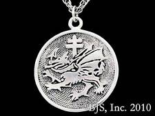 Silver Vlad Dracula's Order of the Dragon Pendant, Vlad Tepes, Medallion, New