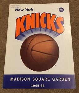 VINTAGE-1965-66-NBA-LOS-ANGELES-LAKERS-NEW-YORK-KNICKS-BASKETBALL-PROGRAM