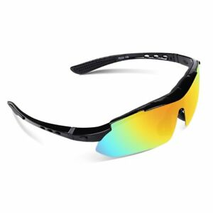 1ae8658d82 Image is loading Polarized-Sports-Sunglasses-with-5-Interchangeable-Lenses -for-