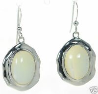 Joseph Esposito Solid 925 Sterling Silver Mother Of Pearl Dangle Earrings '