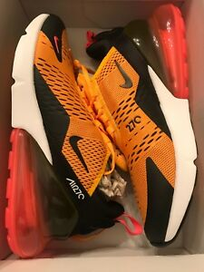 cadb25c9914 Nike Air Max 270 BLACK UNIVERSITY GOLD HOT PUNCH WHITE AH8050 004 ...