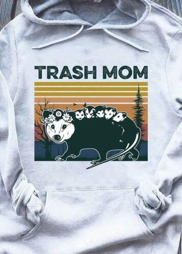4XL Retro Sunset Opossum Trash Mom Hoodie Sport Gray M