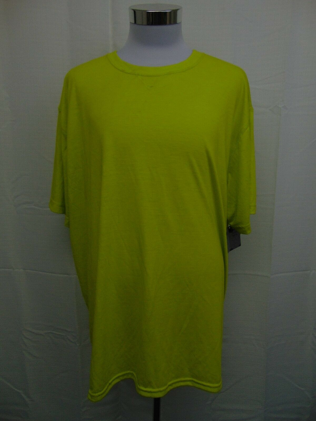 Athletech AT Dri Men's Work Tee Shirt Bright Yellow Green Size 2XL