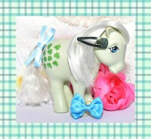 My-Little-Pony-MLP-G1-Vtg-Italy-Italian-MINTY-NIRVANA-Silver-Hair-Clovers