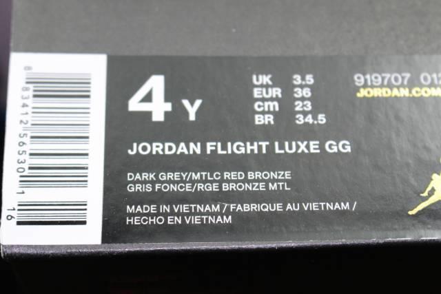 JORDAN FLIGHT LUXE GG YOUTH SIZE 4.0 SAME NEW AS Damenschuhe 5.5 BRONZE NEW SAME COMFORTABLE 1ba2b3