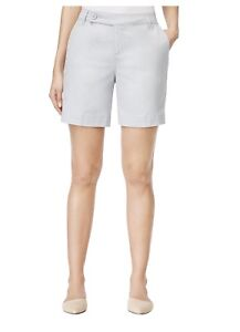 Style-Co-Women-039-s-Petite-Tummy-Control-Shorts-Silver-NWT