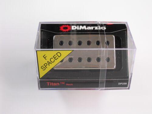 DiMarzio F-spaced Titan Neck Model Humbucker W//Nickel Cover /& Black Poles DP 258