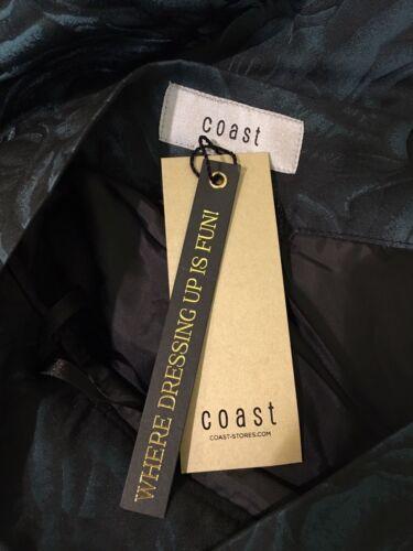Costa Clarke Asimétrico Falda Verde Y Negro