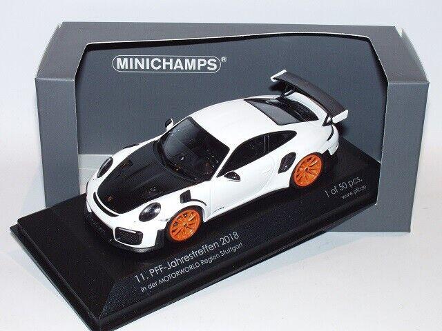 Minichamps Porsche 911 991 GT2 RS 11.PFF Jahrestreffen 2018, 1 43,Neu, rar, OVP