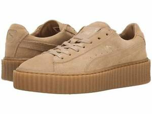 huge selection of ee0f6 f1fbe Details about Rihanna Fenty x Puma Suede Creepers Triple Oatmeal All 361005  03 Women & Men