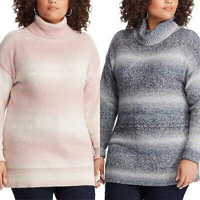 Sizes 1X /& 2X CHAPS Womens PLUS SIZE SPARKLE Knit Sweater CREAM NWT MSRP $66