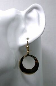 Vintage-Lovely-Pair-of-9-carat-Gold-Disc-Shaped-Dropper-Earrings