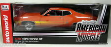 ERTL 1/18 - AMM1020 1970 FORD TORINO GT ORANGE DIECAST MODEL CAR