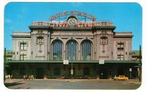 Unused-Postcard-Denver-Union-Depot-Station-Travel-by-Train-Colorado-CO